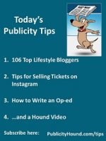 Publicity Tips–106 Top Lifestyle Bloggers