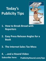 Publicity Tips–How to Break Bread with Reporters