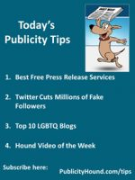 Publicity Tips–Best Free Press Release Services