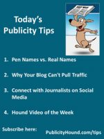 Publicity Tips–Pen Names vs. Real Names