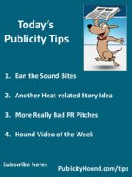 Publicity Tips–Ban the Sound Bites