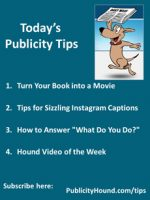 Publicity Tips–Turn Your Book into a Movie
