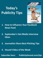 Publicity Tips–How to Influence Your Facebook News Feed