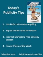 Publicity Tips–Use FAQs to Promote Anything