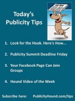 Publicity Tips–Look for the Hook. Here's How…
