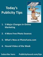 Publicity Tips–5 Major Changes in Online Marketing