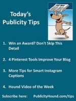 Publicity Tips–Win an Award? Don't Skip This Detail