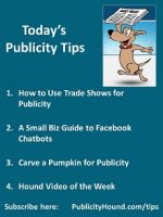 Publicity Tips–How to Use Trade Shows for Publicity