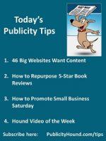 Publicity Tips–46 Big Websites Want Content