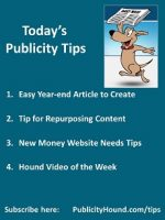Publicity Tips–Easy Year-end Article to Create