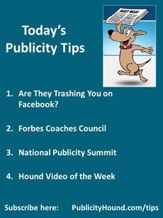 Publicity Tips of the Week