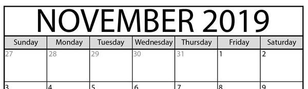 November Publicity Ideas
