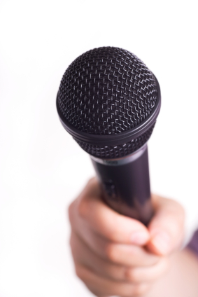 Microphone Broadcast Publicity