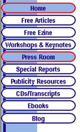 Website navigational buttons