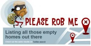 Logo for PleaseRobMe.com website
