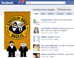 einstein bros. bagels Facebook fan page