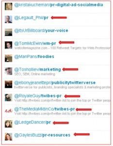 Twitter lists that list Joan Stewart, The Publicity Hound