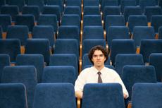man in auditorium