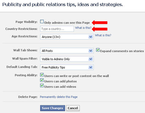Facebook manage admins box