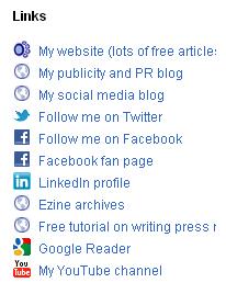 links from Joan Stewart's Google profile