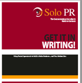 Cover of ffree ebook Get it in Writing