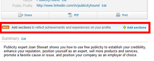 add volunteering to linkedin profile