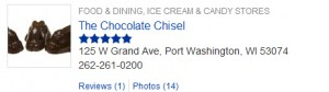 chocolate chisel listing on Port Washington Patch