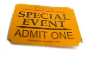 Special Event Admit One ticket