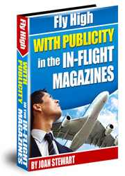 ebook cover for fly high with publicity in the inflight magazines