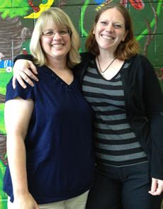 Cindy Beyer and Annie Bahringer