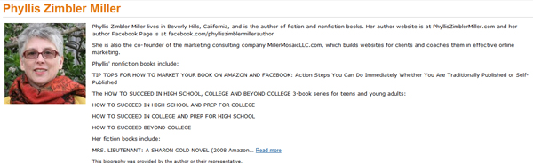 Phyllis Zimblere Millers Author Central Profile on Amazon