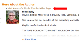 Phyllis Zimbler Miller's About the Author Page on Amazon