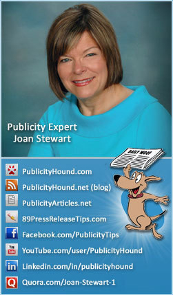 Joan Stewart's Twitter background promoting facebook page