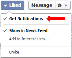 get notifications on faceboook