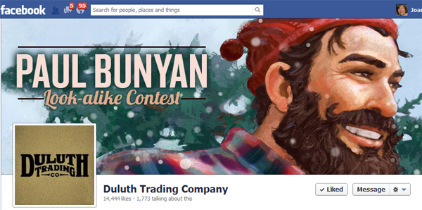 duluth trading co.'s paul bunyan look-alike contest
