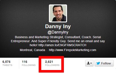 danny iny twitter profile