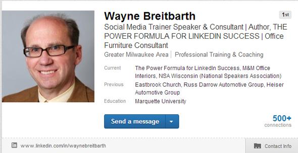 wayne breaitbarth linkedin headline