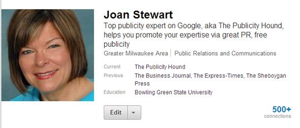 joan's linkedin headline