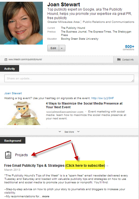 LinkedIn opt-in box 2