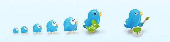 Twitter birds in a row