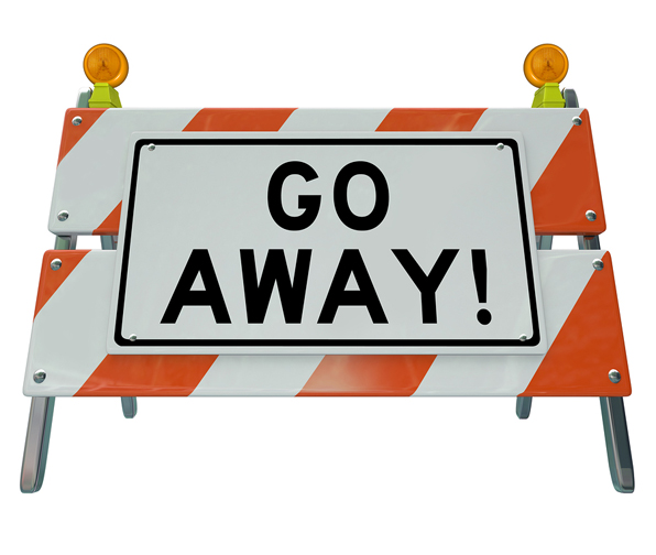 go away sign by bigstock2