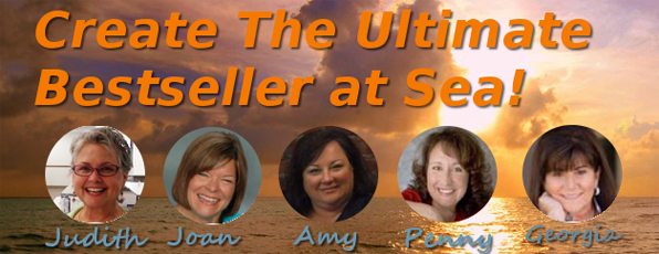 Cruise at Sea banner with 5 book publishing experts