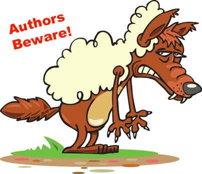 "wolf in sheep's clothing with ""Authors Beware"" warning about the publishing predators"