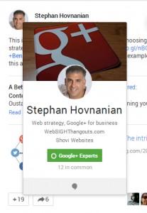 Google Plus -- Stephan Hovnavian