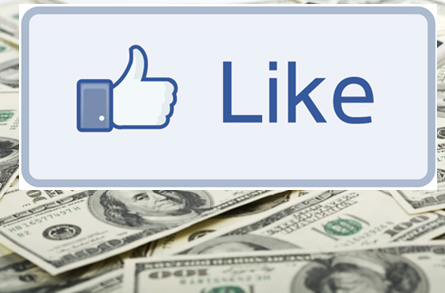 Facebook Like button on cash