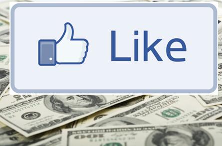 Facebook Like button on cash