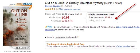 Kindle Countdown Deal box