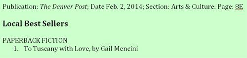 Gail Mencini best seller in Denver Post