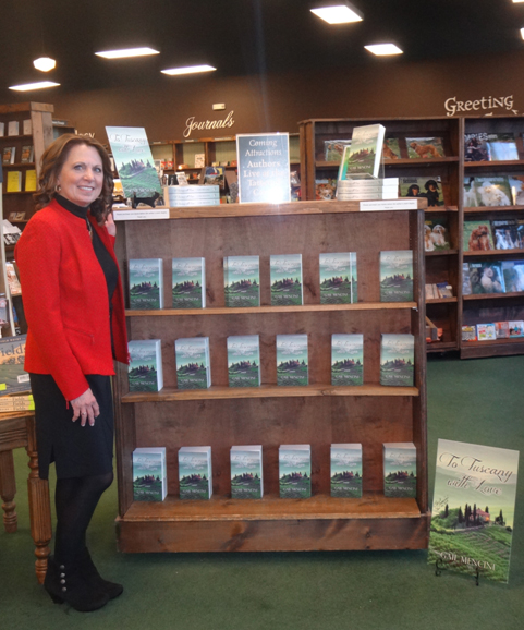 Gail Mencini in bookstore