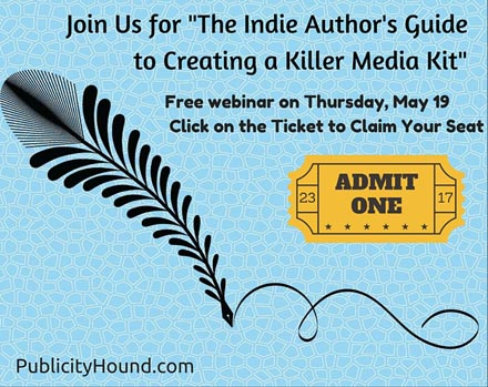 Registration ticket for author media kit webinar